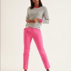 {Boden} EUC pink cropped pant sz 14
